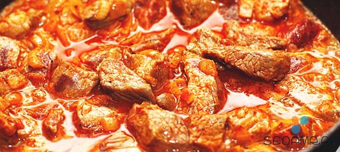 Как приготовить гуляш из мяса говядины?