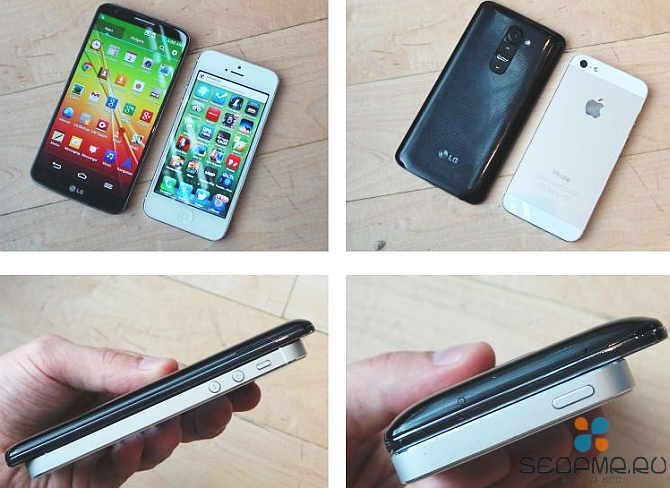 LG G2 против Fpple iPhone 5