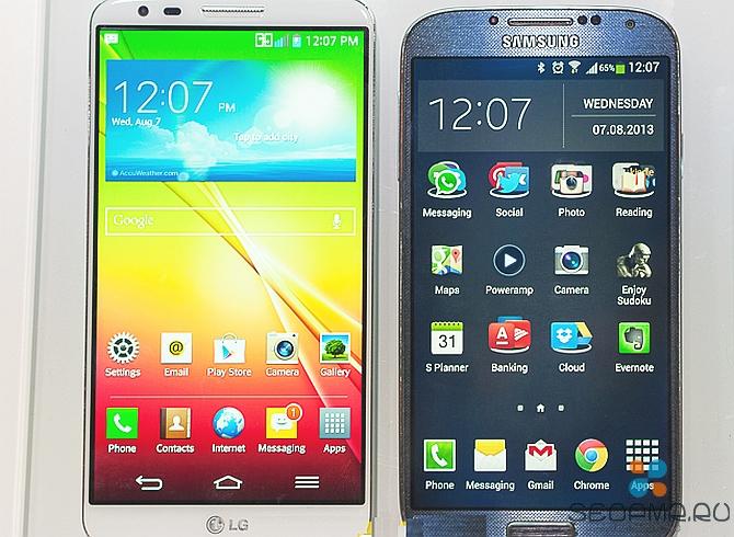 LG G2 против Samsung Galaxy S3